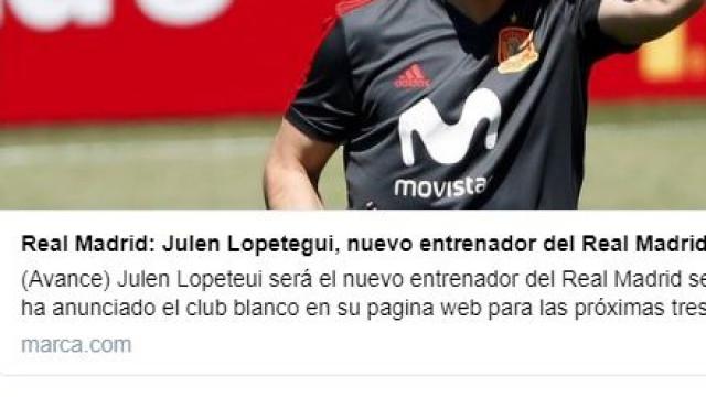 Marca anunciou Lopetegui no Real Madrid e... 'gozou' com notícia