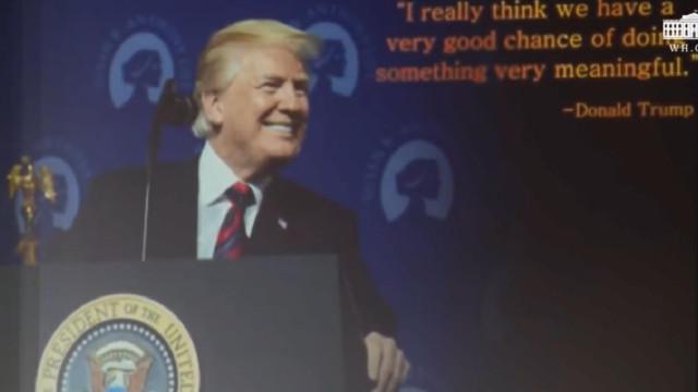 Trump mostrou a Kim 'trailer falso' que mostra os dois como heróis da paz