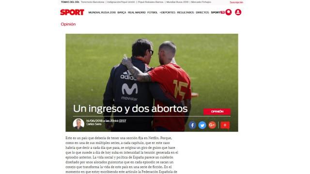 """Espanha e o duelo ibérico: """"Dois abortos e o abismo ao virar da esquina"""""""