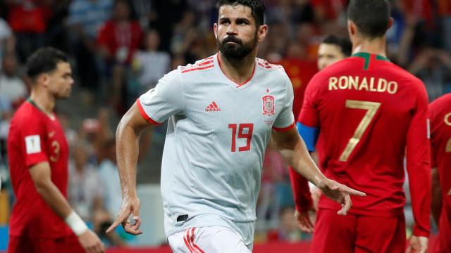 """Diego Costa elogia o """"bicho"""" CR7 e comenta o lance com Pepe"""