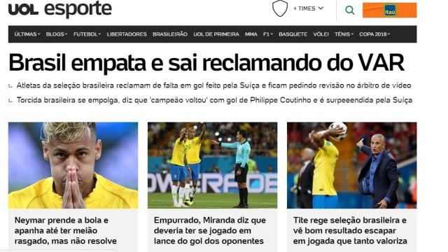 O que diz a imprensa brasileira sobre o desaire da canarinha