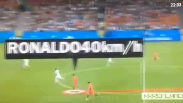 O sprint impressionante de Cristiano Ronaldo que 'disparou' radares