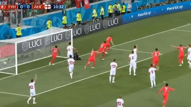 A defesa impossível de Hassen que não impediu o golo de Kane