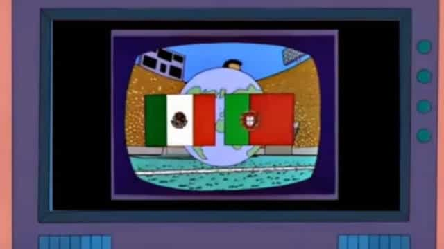 Simpsons previram a final do Mundial entre Portugal e México. Será?