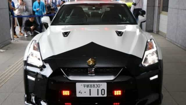 Polícia japonesa 'reforça-se' com Nissan GTR