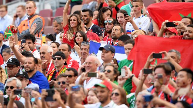Mundial: Enquanto CR7 jogava, Georgina Rodríguez 'delirava' na bancada