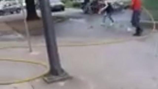 Bombeiros 'resgatam' gato com recurso a mangueira. Vídeo gera revolta