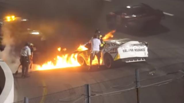 Pai salva filho e evita tragédia em corrida nos Estados Unidos