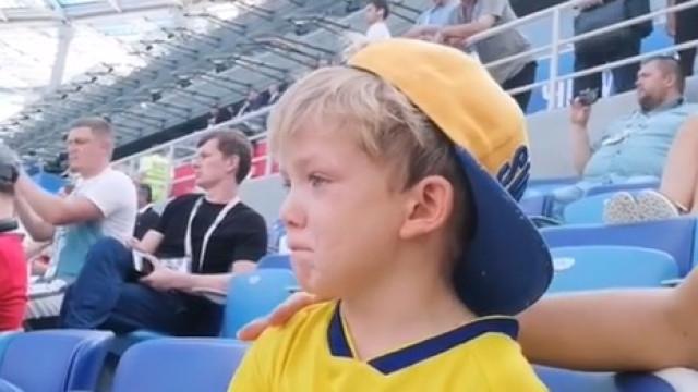 Marcus Berg estreou-se no Mundial e o filho desatou a chorar