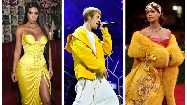 As estrelas que brilham de amarelo