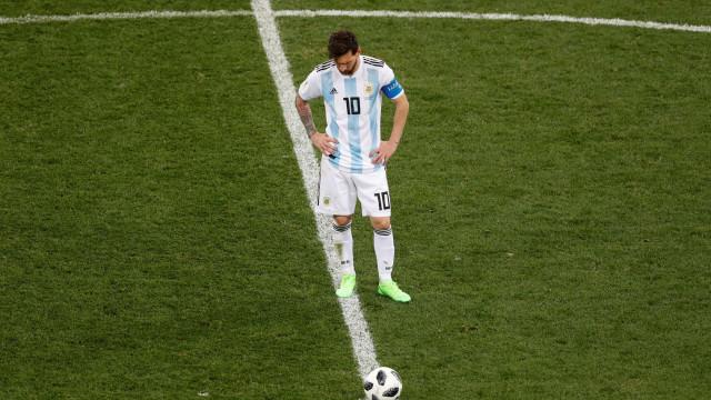 Na Argentina pede-se que Messi renuncie de vez à seleção