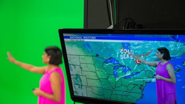 Apresentadores de meteorologia chamam atenção para aquecimeno global