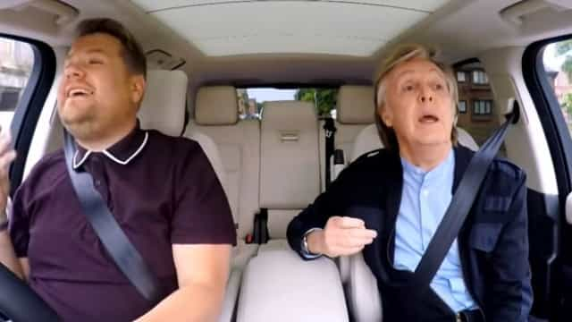 Paul McCartney deixa James Corden em lágrimas no 'Carpool Karaoke'