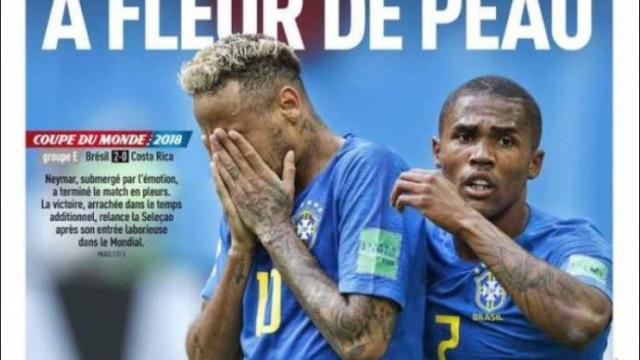 Internacional: Lágrimas de Neymar não deixaram Europa indiferente