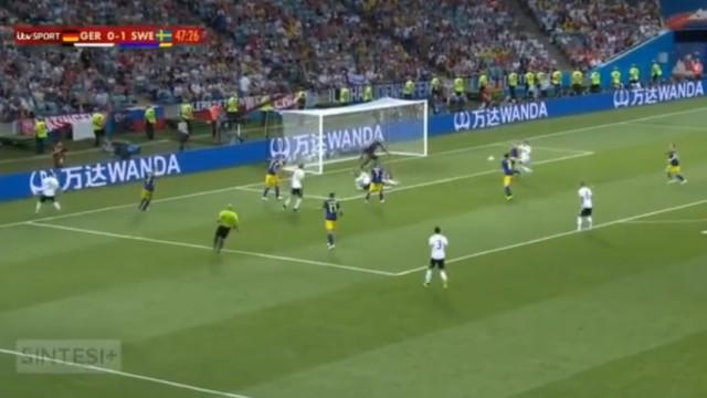 Alemanha voltou com tudo do intervalo e logo chegou ao golo