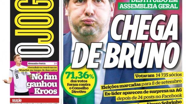 """""""Bruno caiu"""" e não se fala de outra coisa na imprensa nacional"""