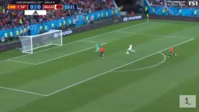 Marrocos surpreende aos 14 minutos e deixa Espanha em maus lençóis
