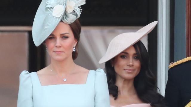 Palácio comenta alegada zanga entre Kate Middleton e Meghan Markle