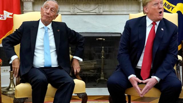 À chegada, Marcelo deu a provar a Trump do seu próprio 'veneno'
