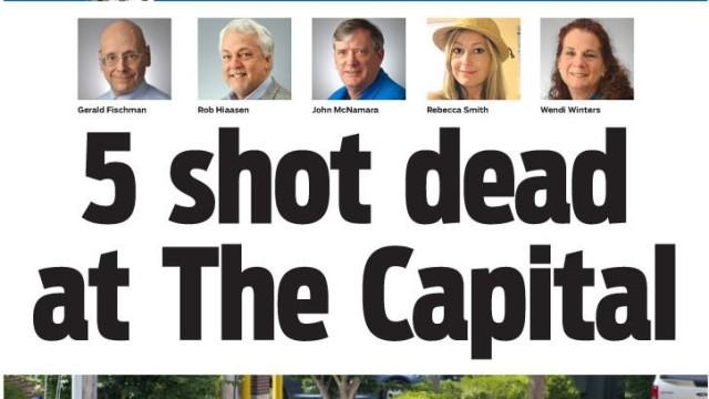 Redações do mundo, pede-se um minuto de silêncio pelo Capital Gazette
