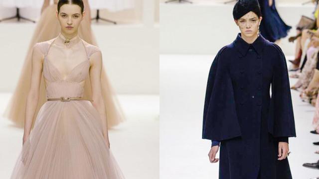 Maria Clara e Maria Miguel desfilam para a Dior em Alta Costura