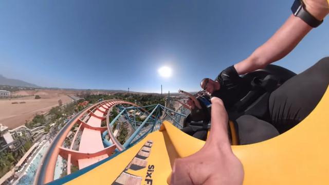GoPro mostra-lhe uma viagem de montanha-russa verdadeiramente surreal
