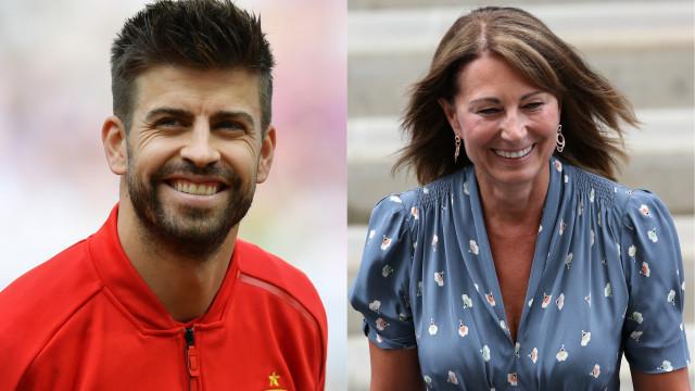 A amizade improvável entre Gerard Piqué e... a mãe de Kate Middleton