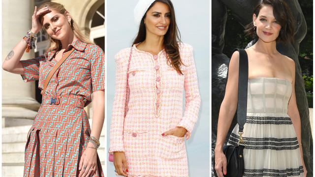 Alta costura: As celebridades que estão a brilhar em Paris