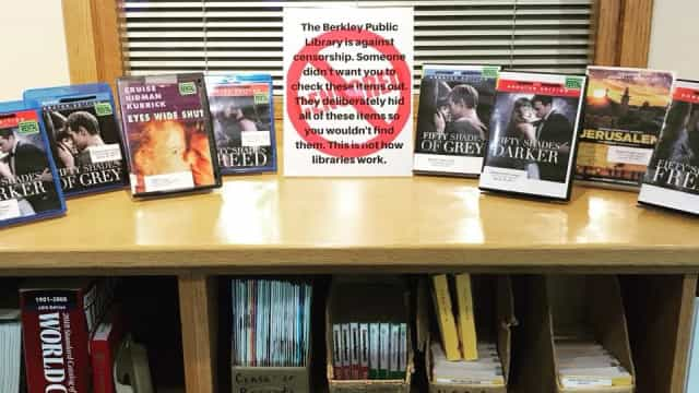 Biblioteca não gostou da censura, após '50 Sombras de Grey' desaparecerem