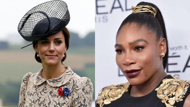 """Para Serena Williams, Kate é a """"mulher mais incrível da atualidade"""""""