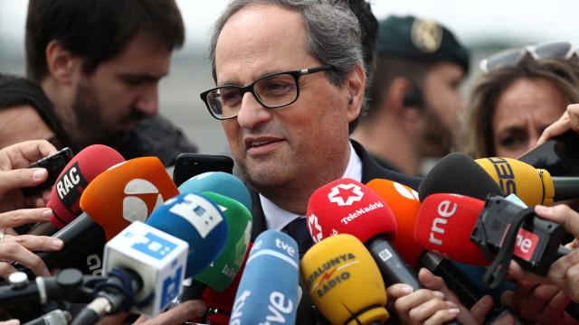 """Torra pede """"coragem"""" a Sánchez para diálogo que inclua autodeterminação"""