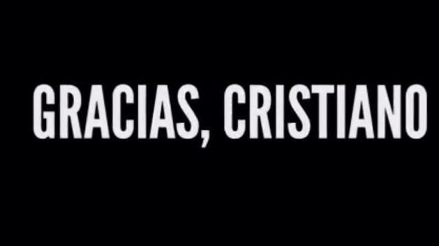 """Gracias, Cristiano"". O vídeo de despedida do Real Madrid"