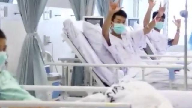 Eis as primeiras imagens no hospital dos meninos resgatados