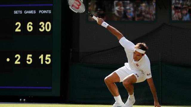 Escândalo em Wimbledon: Caiu o campeão em título. Adeus, Federer
