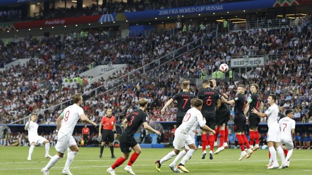 [0-1] Croácia-Inglaterra: Intervalo em Moscovo