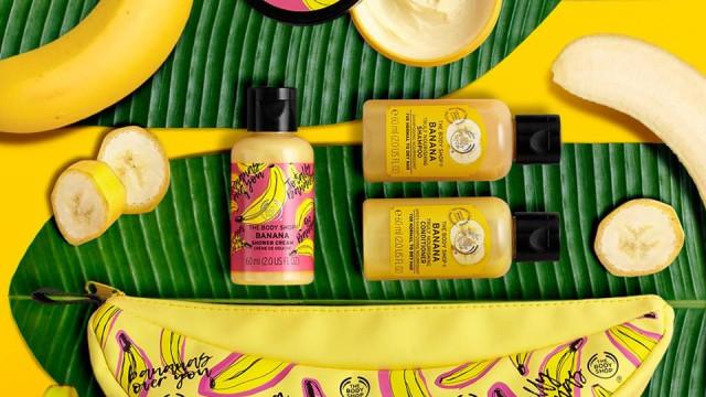 Go bananas! Nova linha da The Body Shop combate o desperdício alimentar