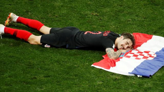 A mais bela foto deste Mundial? O 'sorriso' de Vrsaljko não tem preço