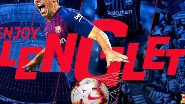 Lenglet oficializado no Barcelona