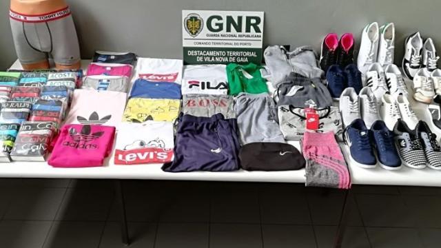 Nove arguidos e material contrafeito apreendido em Vila Nova de Gaia