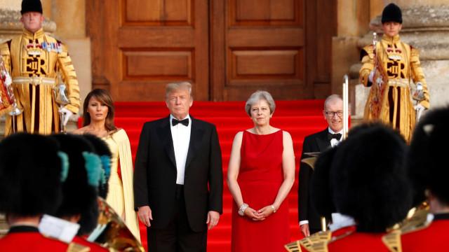 Declarações de Trump sobre May provocam protestos políticos em Londres