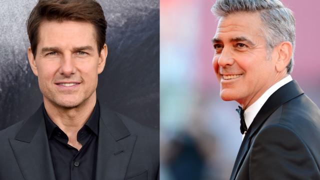Após acidente desastroso de mota, Tom Cruise dá conselho a George Clooney