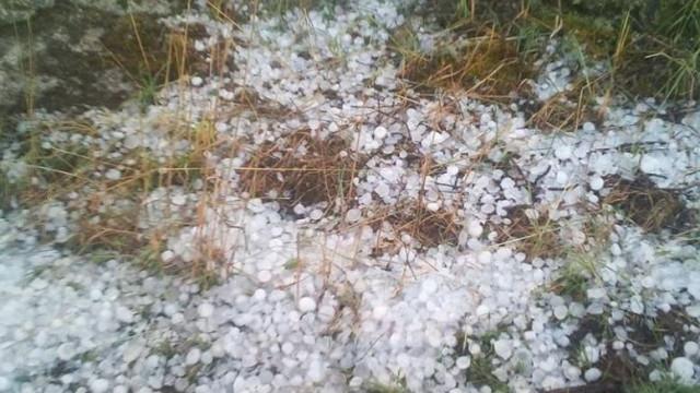 Em pleno verão caiu granizo em Chaves. E não foi pouco