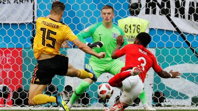 [1-0] Bélgica-Inglaterra: Kane fica perto do empate