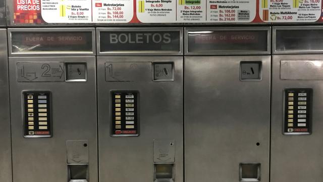 Em Caracas o metro é à borla... porque não há forma de cobrá-lo