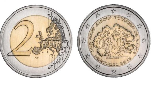 BdP põe em circulação moeda comemorativa do Jardim Botânico da Ajuda
