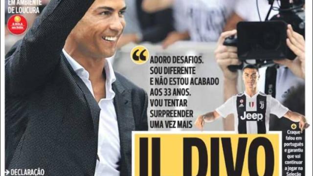 Cá por dentro: Com Ronaldo 'la vita è bella'