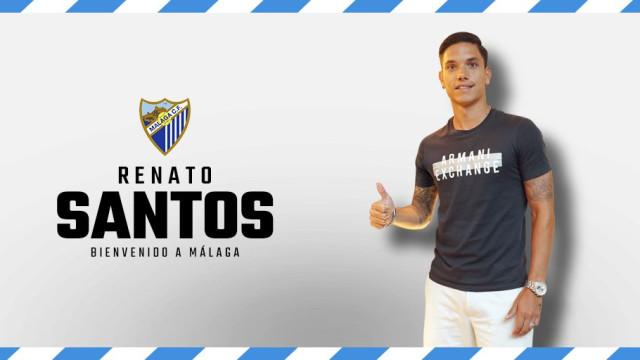 Oficial: Renato Santos é reforço do Málaga