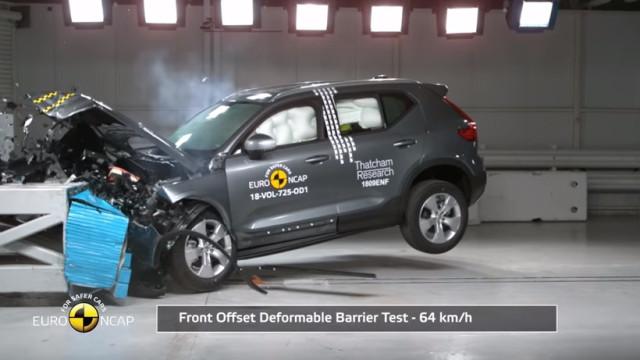 Volvo XC40 é um dos carros mais seguros dos últimos anos. Eis os testes
