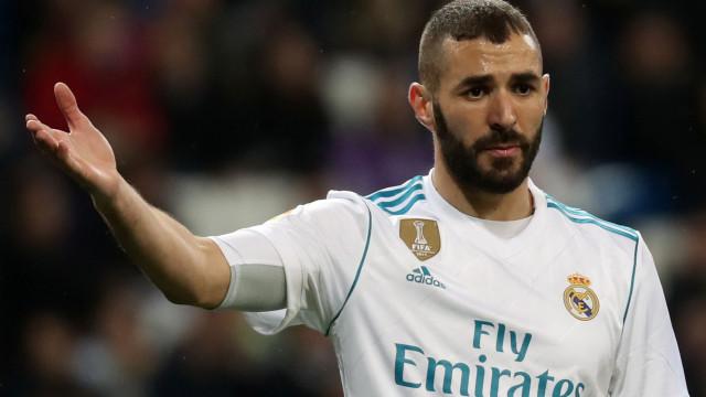 """Benzema respondeu a presidente do Nápoles: """"Mais um maluco para a lista"""""""