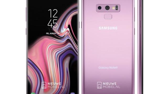 Fuga de informação confirma Galaxy Note 9 em preto, azul e lilás